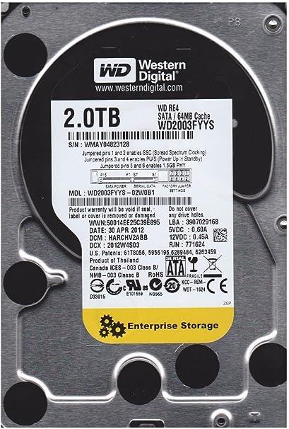 "Lot of 5 Western Digital 2TB SATA 3.5/"" Desktop Hard Drives WD2003FYYS *Tested*"