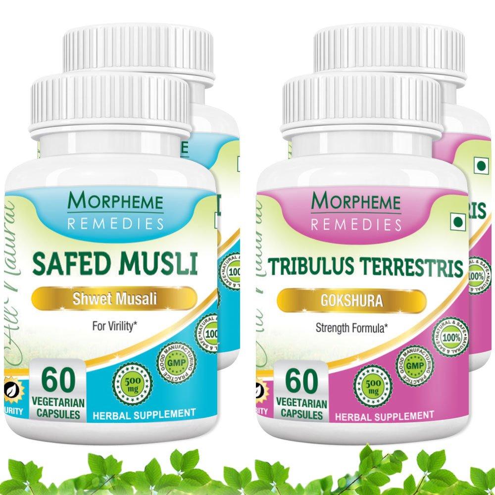 Morpheme Safed Musli + Tribulus Terrestris (4 Bottles)