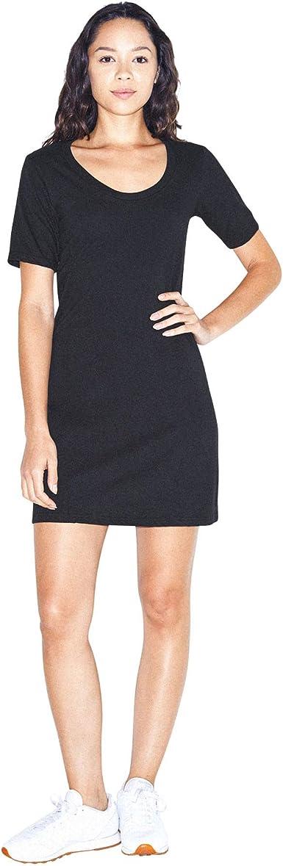 American Apparel Women's Fine Jersey Short Sleeve T-Shirt Dress at ...