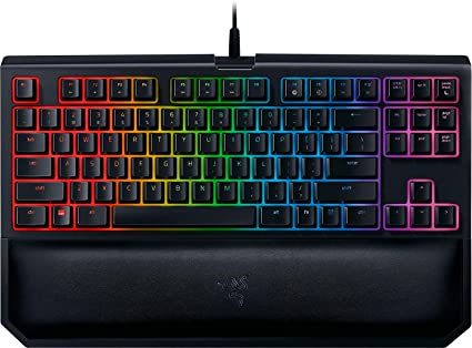 16d6991ee6a Razer BlackWidow TE Chroma v2 Mechanical Gaming Keyboard - [Matte Black]:  Yellow Key