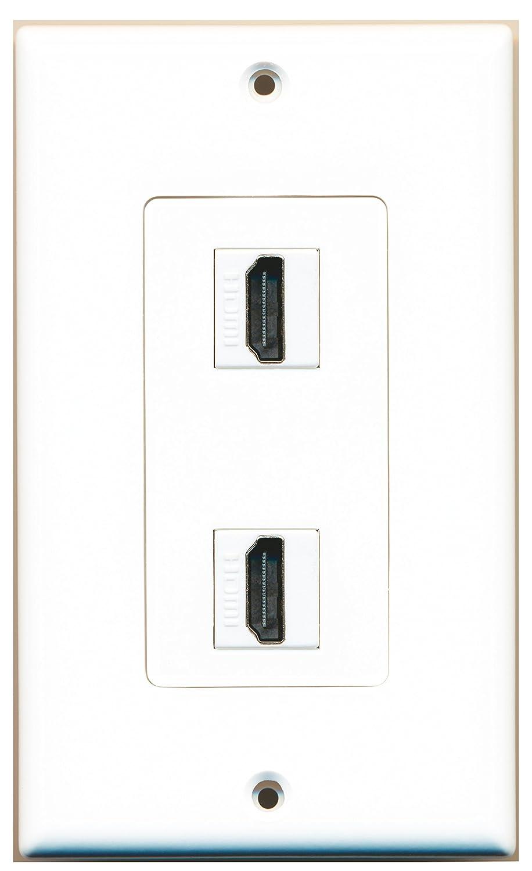 Riteav 2 Port Hdmi 20 Decorative Wall Plate White Wiring Plates Home Audio Theater