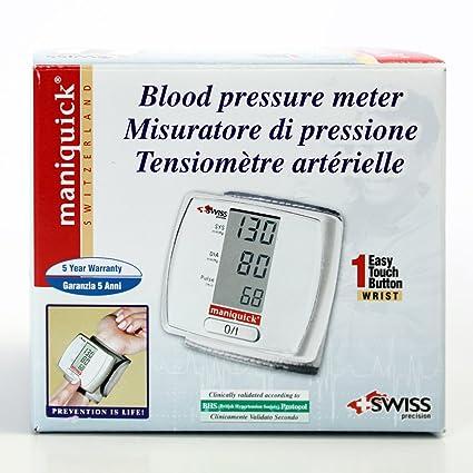 Maniquick MQ 104 Check Quick - Tensiómetro de muñeca automático: Amazon.es: Salud y cuidado personal