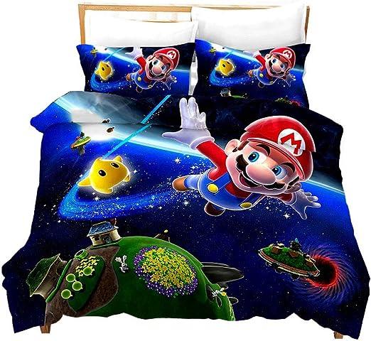 Amazon.com: Fuovt Super Mario Kids Bedding Soft Comforter, Mario