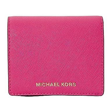 23a95341afb Accessoires Femme Petit Portefeuille En Cuir Saffiano Ultra Pink Michael  Kors Printemps été 2018