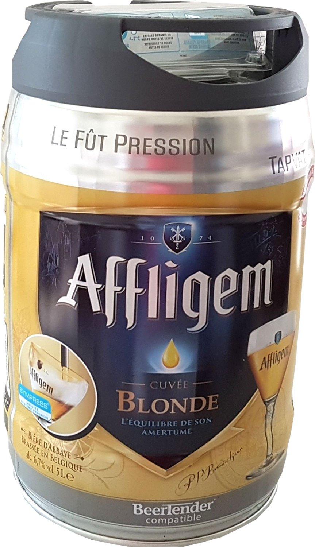 Affligem rubia barril de 5 litros incl tambor. Espita 6,8% vol.: Amazon.es: Alimentación y bebidas