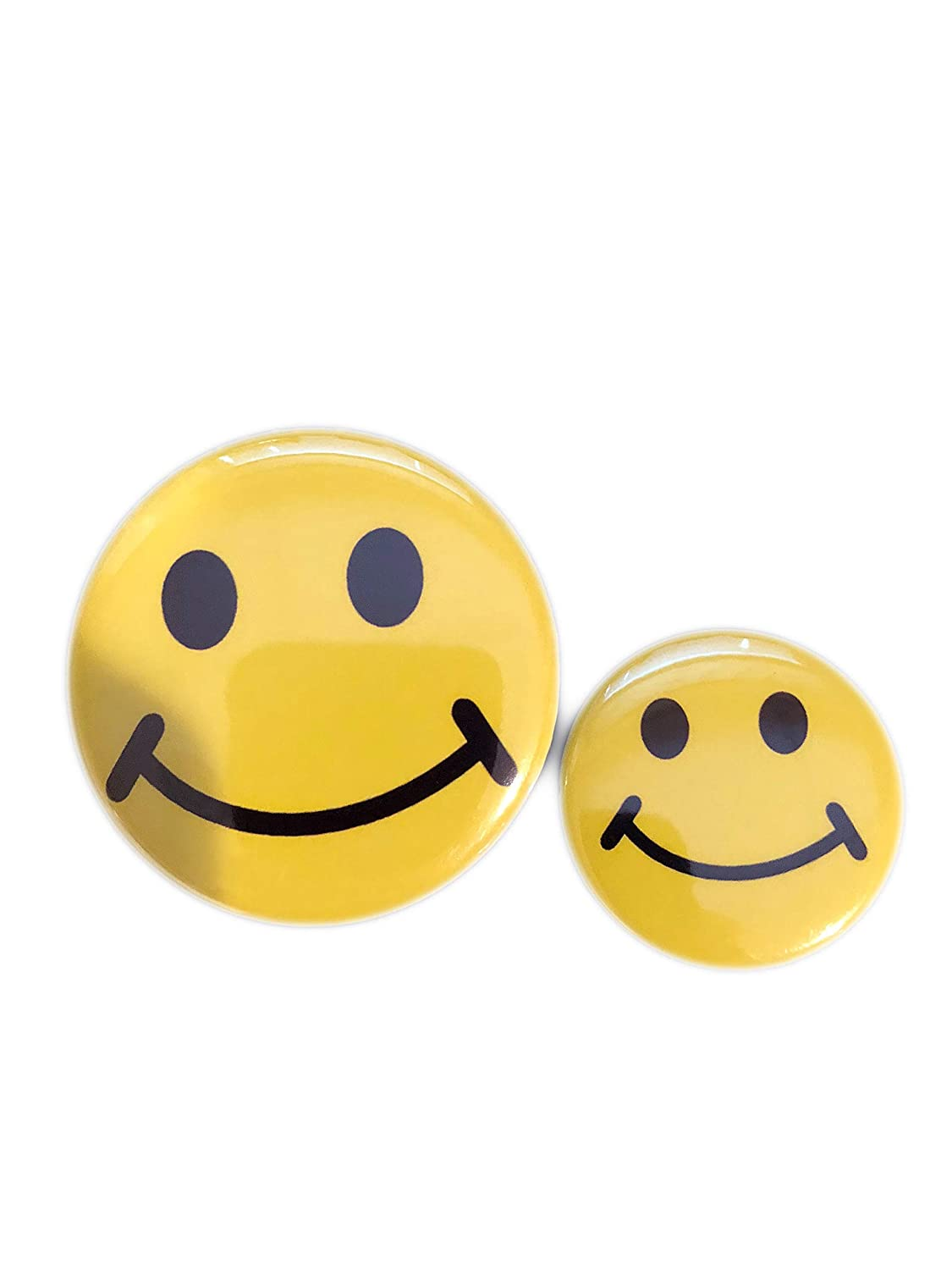 Fun Express 2-Pack of 48 Mini Metal Smiley Smile Face Button Pins