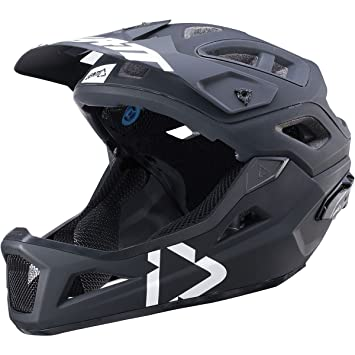 Leatt DBX 3.0 Enduro V2 Casco Mixto, Color Blanco y Negro, tamaño 51-