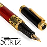SCRIZ™ SPECIAL EDITION Multicolored Marble Body Fountain Ink Pen With German Iridium Nib (SZ-0111)