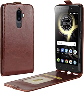 zl one Compatible with/Replacement for Phone Case Lenovo K8 Note PU Leather Protection Card Slots Wallet Cover Flip Case (Brown)