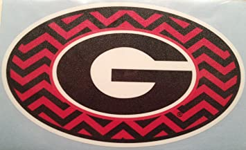 Georgia Bulldogs G Oval Chevron Car Decal Uga Auto