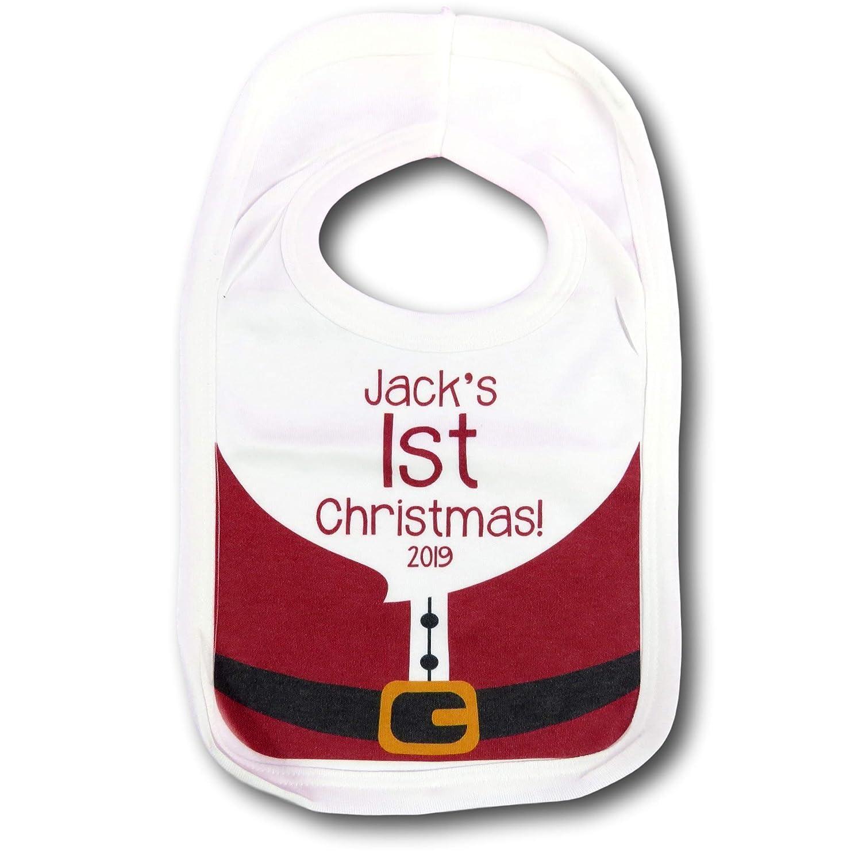 First Christmas Bib Babies First Christmas bib Xmas Gift 1st Christmas Xmas Present New Born Baby Gift chrismtas bib Babies bib First Santas Costume Christmas Dress up