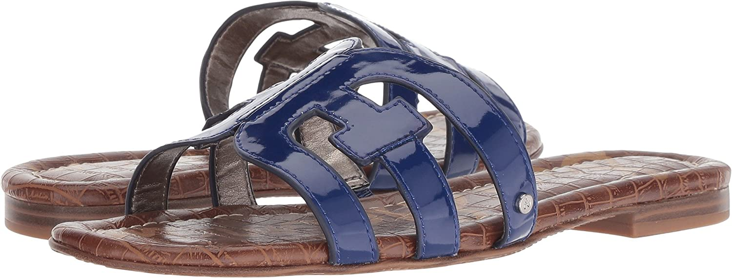 Sam Edelman Women's Bay Slide Sandal B07DKDQPMV 9.5 M US|Nautical Blue Patent