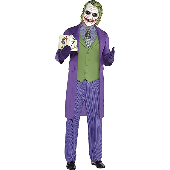 Amazon.com: Traje para hombre Joker de Halloween, The Dark ...