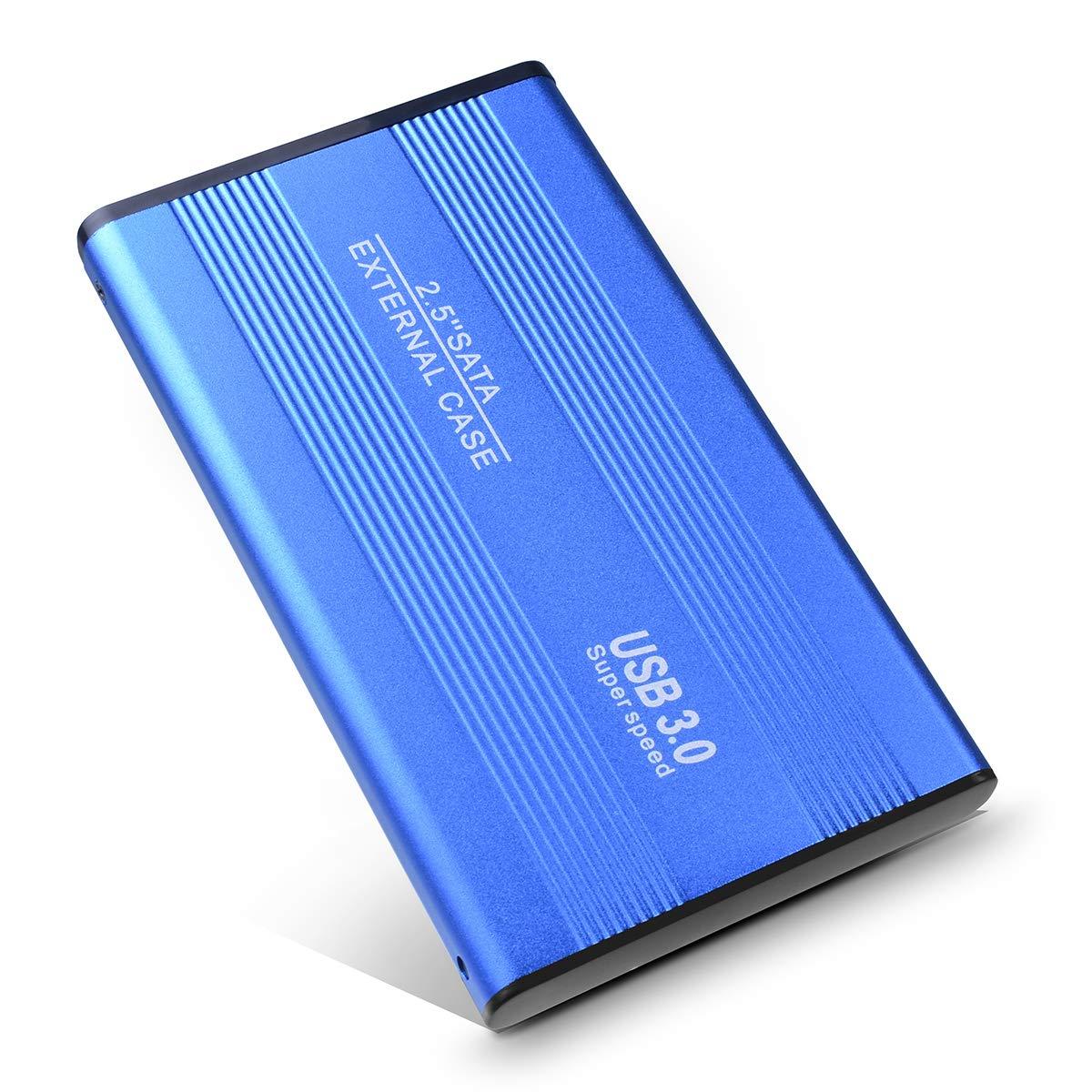 2.5'' 1TB Ultra Slim Portable External Hard Drive USB 3.0 HDD Storage for PC/Desktop/Laptop/MacBook/Chromebook (Blue,2TB)