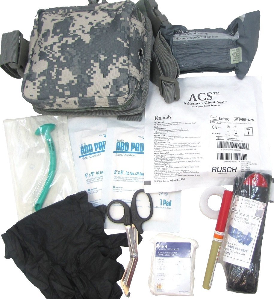 Enhanced Level 2 IFAK Fist Aid Kit - Drop Leg - ACU