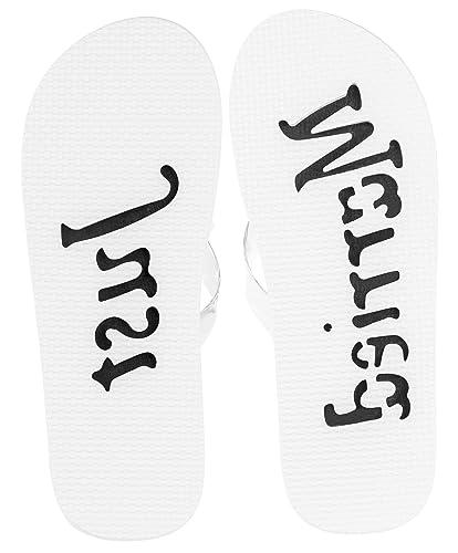 83b554ae1af97f Victoria Lynn Just Married Flip Flops for Women