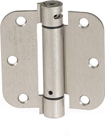 Satin Nickel 24 Pack Heavy-Duty 4 Interior Door Hinges with 5//8 Radius Corners Cauldham