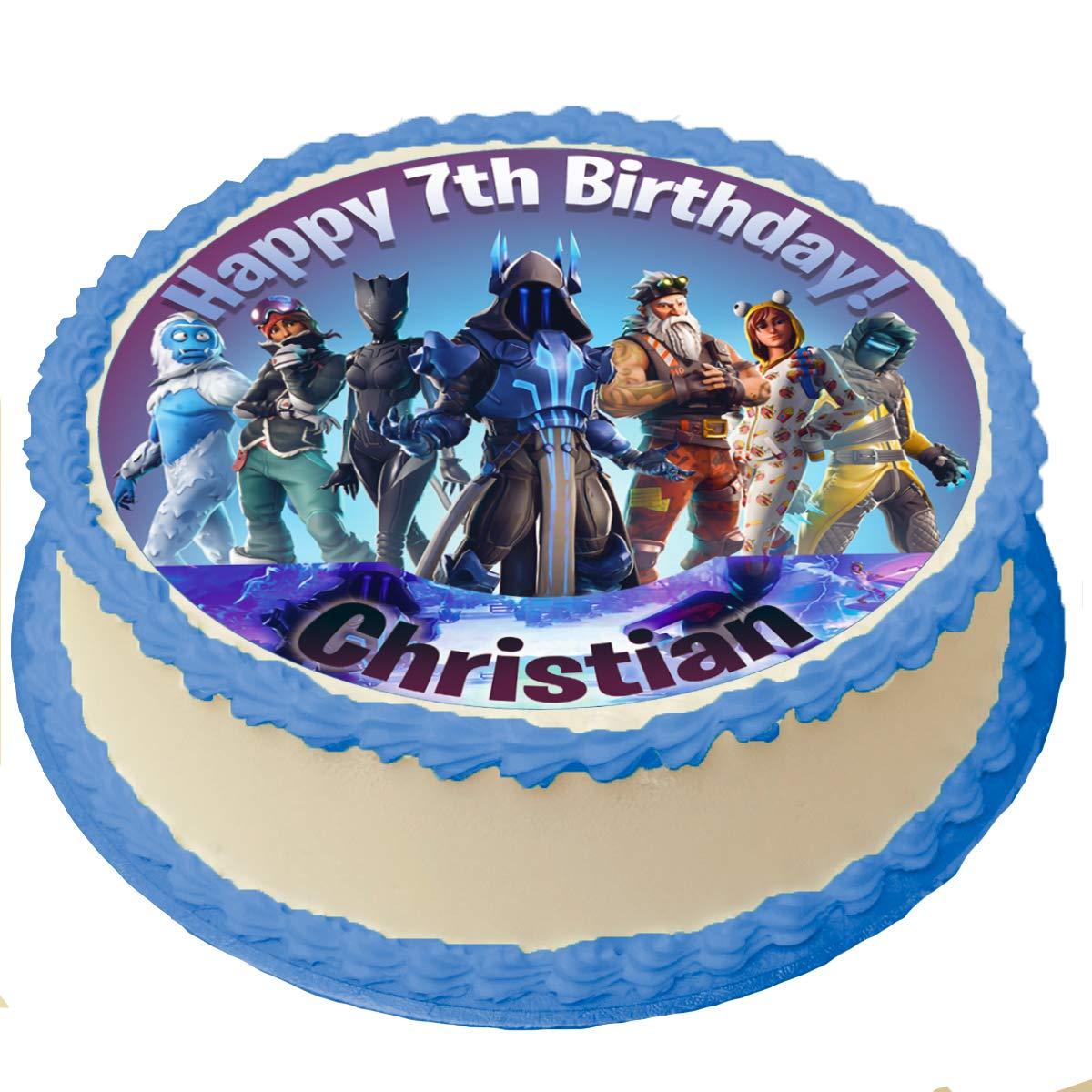 Sensational Battle Royale 7 Season Cake Topper Icing Sugar Paper 8 Inches Personalised Birthday Cards Veneteletsinfo