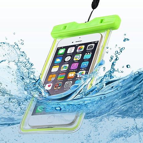 Anfire Funda Impermeable para Teléfono Transparente Estanca Sumergible Bolsas Móviles para [6.2 Pulgadas] IPX8 Prueba de Agua Material de PVC para ...