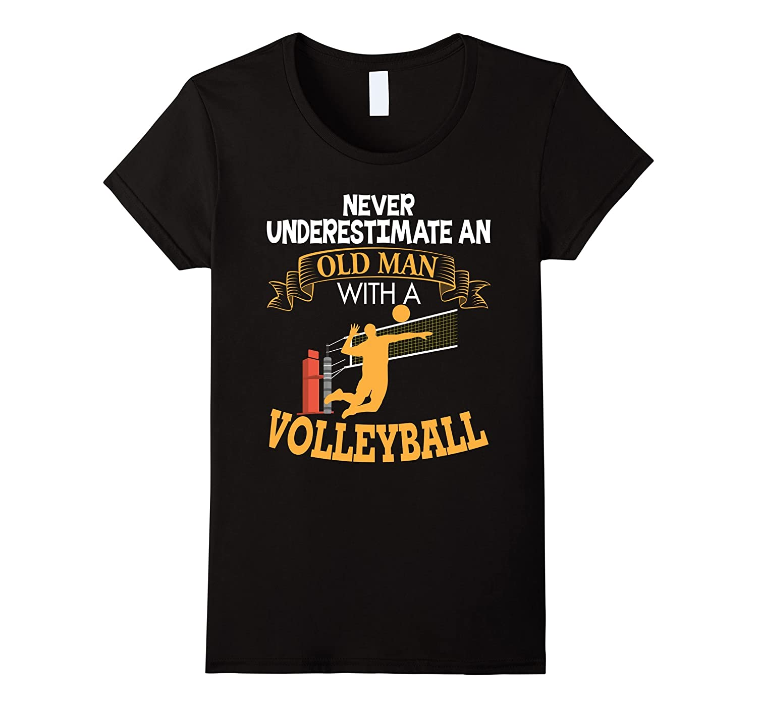 Never Underestimate An Old Man With a Volleyball T-Shirt-Teevkd