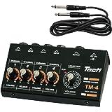 TECH 4ch マイクロミキサー 1.2mケーブル X 1付属 TM-4