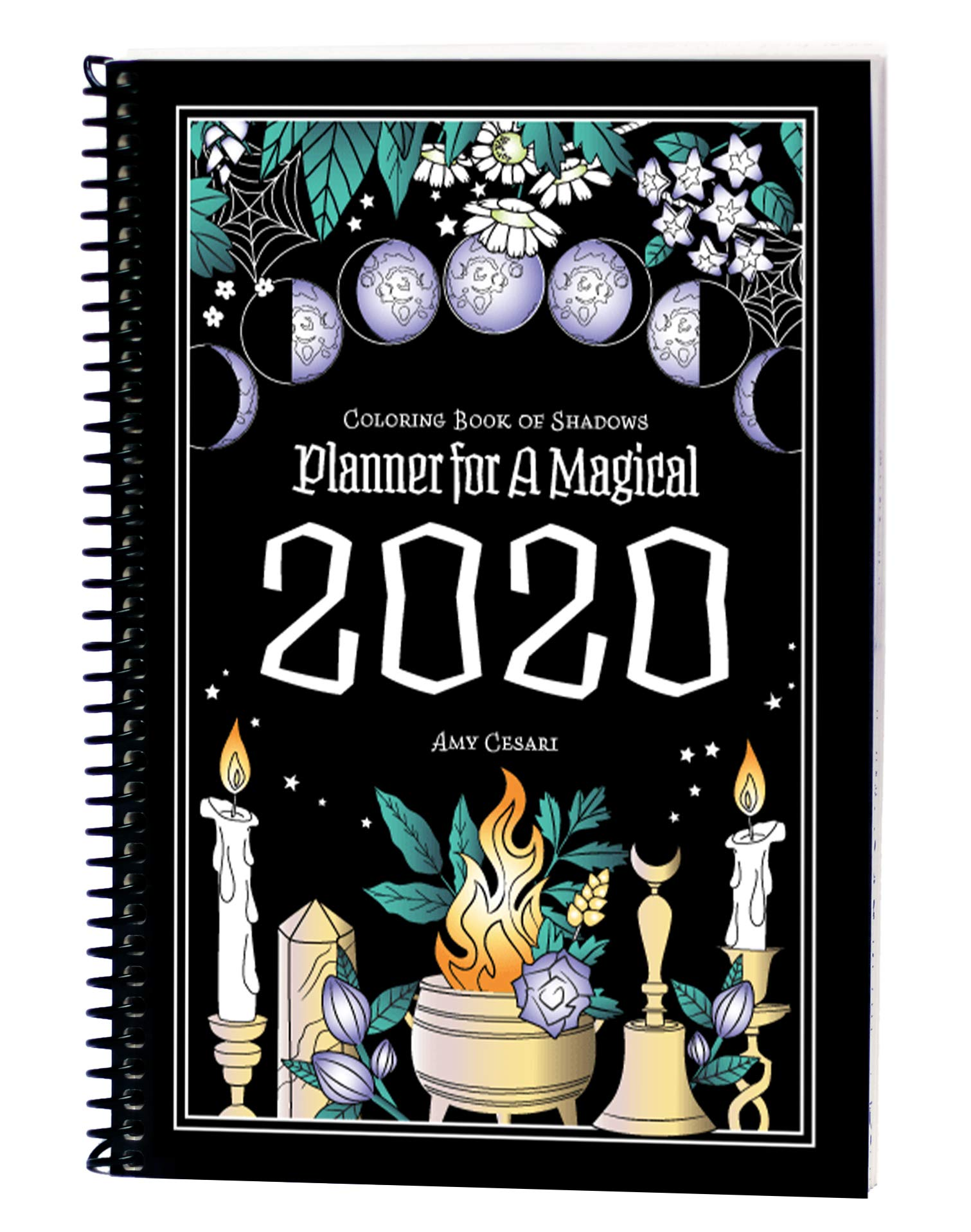 Coloring Book of Shadows Planner for a Magical 2020 | The Best 2020 Pagan and Witchy Planners | WitchcraftedLife.com