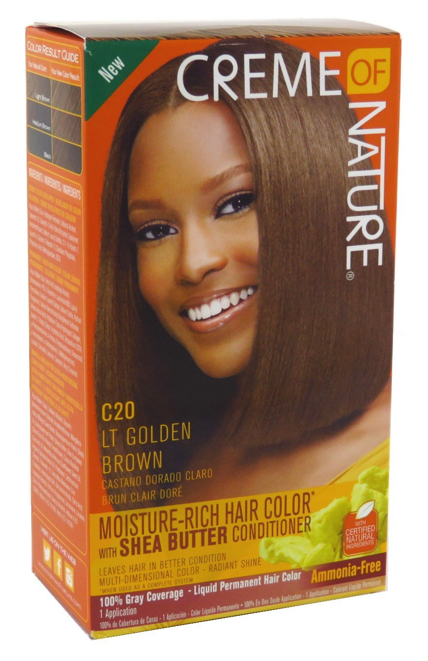 Creme Of Nature Color C20 Light Golden Brown Kit (2 Pack)
