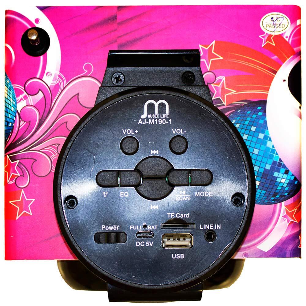 Guoqing Altavoces port/átiles inal/ámbricos Karaoke Micr/ófonos Bluetooth 2 en 1 Mini Casa KTV para Jugar y Cantar para iOS//Android Smartphone//Tableta