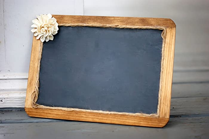 Amazon.com: Real Slate Chalkboard with Wood Frame and Sola Flower ...