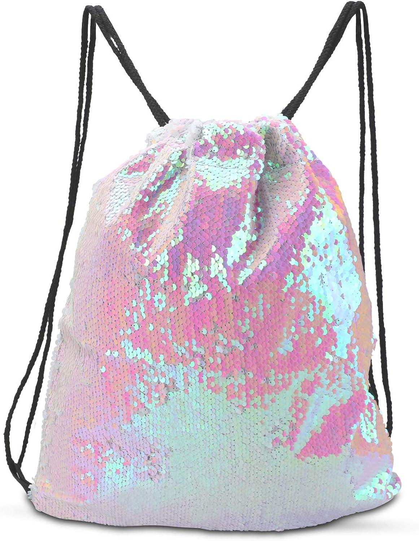 Drawstring Backpack Mermaid Gym Bag