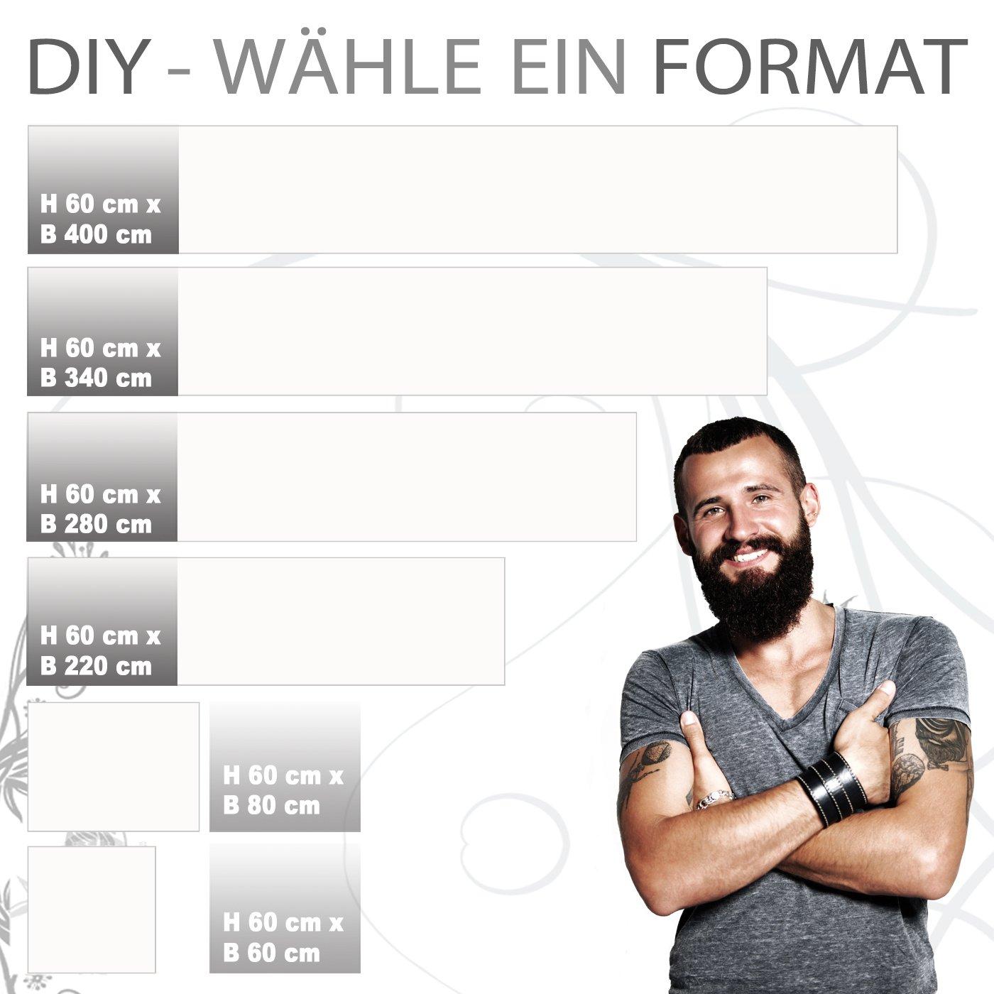 StickerProfis Küchenrückwand selbstklebend Premium Premium Premium Pure Weiß 60 x 280cm DIY - Do It Yourself PVC Spritzschutz 34604c