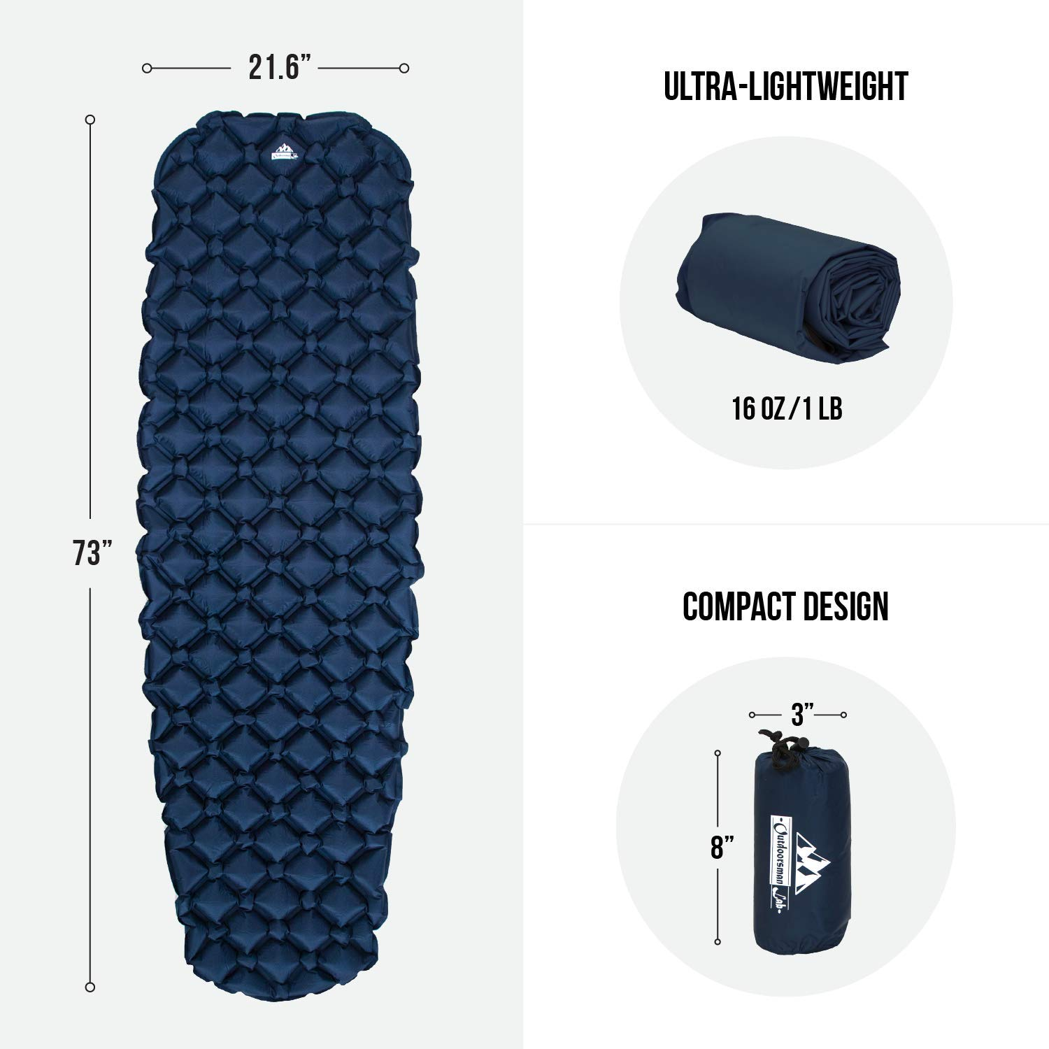 Outdoorsman Lab Inflatable Sleeping Pad