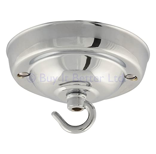 Ceiling rose for light fittings chandeliers chrome plated amazon ceiling rose for light fittings chandeliers chrome plated aloadofball Images
