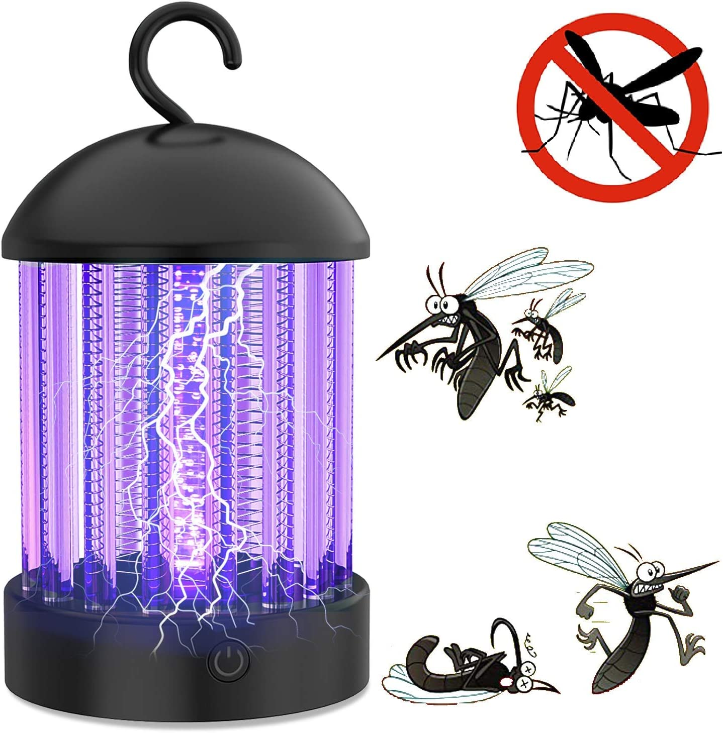 Aukfa Electronic Mosquito Killer Lamp,Bug Zapper with Light Mosquito Trap, Fly Zapper Insect Killer Safety & Non-Toxic for Home Indoor/Outdoor Bedroom Kitchen Use