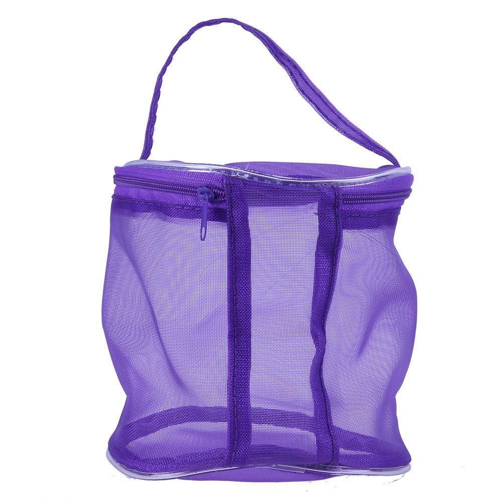 Dragonaur Travel traslucido chiusura zip di lana filato Storage Bag organizer Container s Purple MBSOCT29M1204