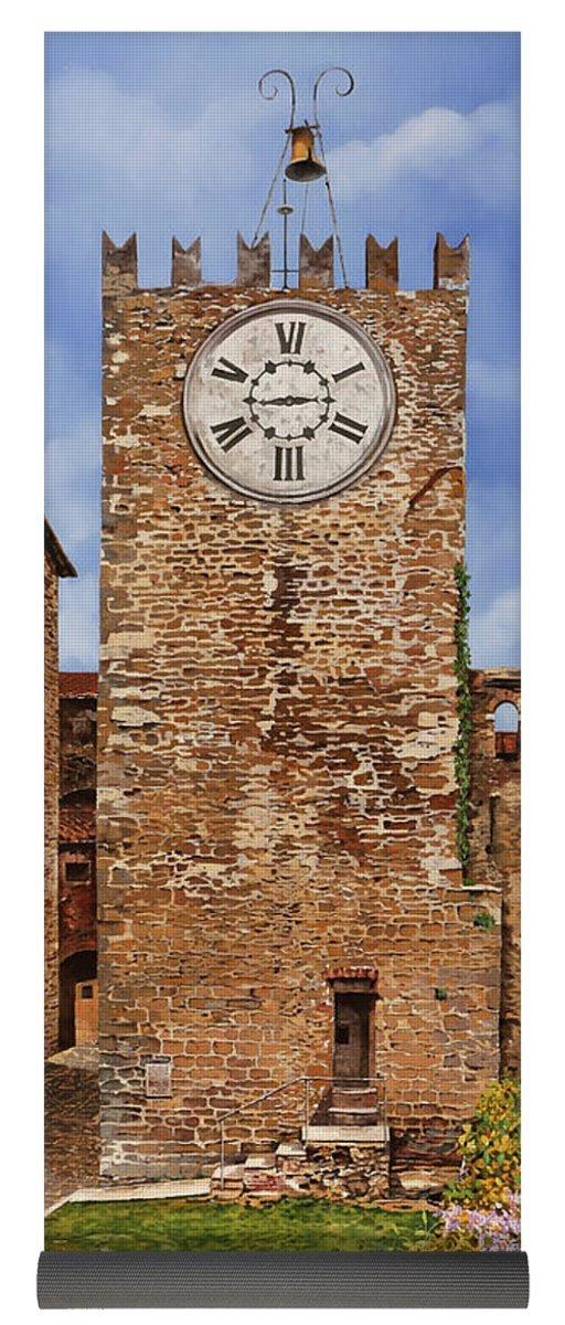 Pixels Yoga Mat w/ Bag ''La Torre Del Carmine-montecatini Terme-tuscany''