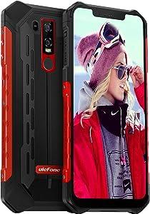 Rugged Phones Unlocked, Ulefone Armor 6E IP68 Waterproof Cell Phone Android 9 Helio P70 4GB+64GB 6.2 inch 19:9 FHD+ 5000mAh Dual Camera Global Dual 4G, US Plug Face ID+UV Sensor, NFC+GPS+Glonass (Red)