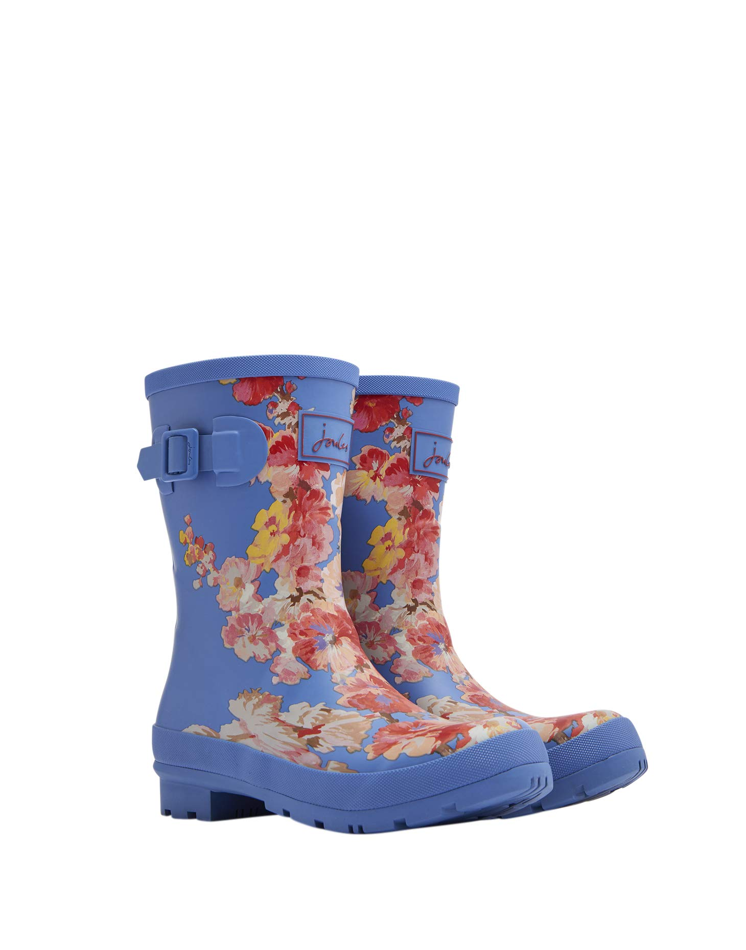 Joules Molly Welly Wellies 4 D(M) US Blue Floral