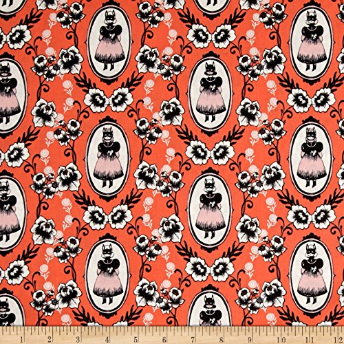 Cotton + Steel Boo Ophelia Fabric by The Yard, Coral