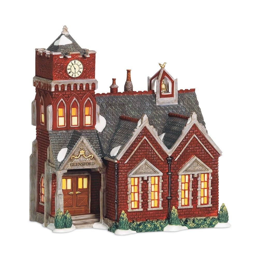 Department 56 Dickens A Christmas Carol Village Glensford School Lit Miniature Building