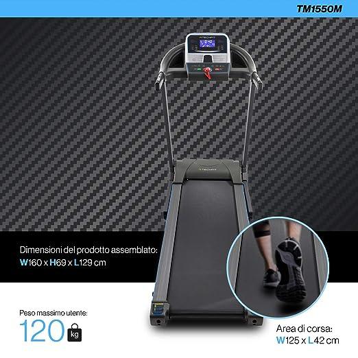 TechFit T1550M Cinta de Correr Eléctrica, 1.5 HP, Inclinación ...