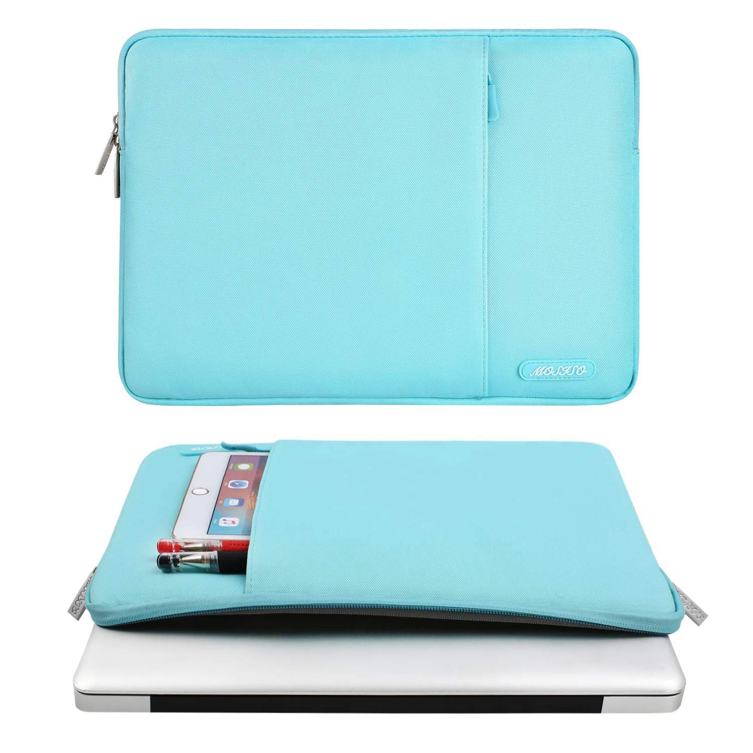 13 inch New MacBook Pro A1989 A1706 A1708 Deep Teal Notebook MOSISO Laptop Sleeve Compatible 2018 New MacBook Air 13 inch with Retina Display A1932 Polyester Bag with Vertical Pocket