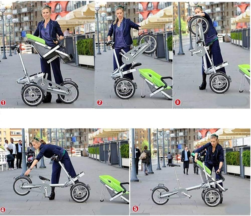 FLy Triciclo Plegable Adulto Bicicleta Turística Padre-Hijo Triciclo Al Aire Libre con Resistente A Los Golpes 2 Modos Convertible Gratis para Padres E Hijos, Adulto Unisex,Azul: Amazon.es: Hogar