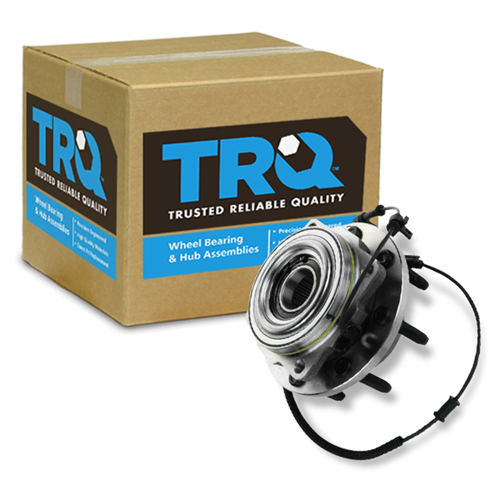 TRQ Wheel Bearing Hub Assembly Front or for 11-15 F250 F350 Super Duty 4WD SRW by TRQ