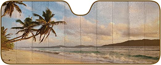 Auto Expressions 804240 Sun Protection Accordion Shade