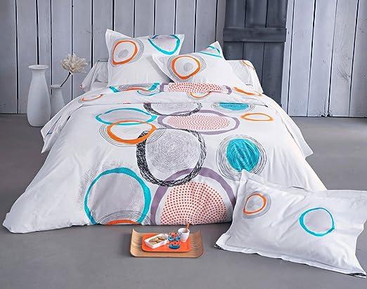 Becquet - Funda de almohada o cojín cilíndrico círculos ...