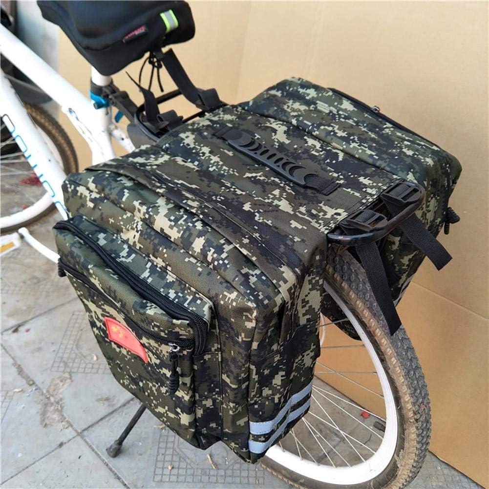Leisuretime Bolsa Doble para Maletas de Bicicleta, Bicicleta de montaña agrandada Camo Saddle Bag Bicicleta para Maletas Bolsa de Viaje para Asiento Trasero