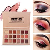 Maange 18 Colors Highly Pigmented Eye Shadow Palette (11 Matte + 7 Shimmer)
