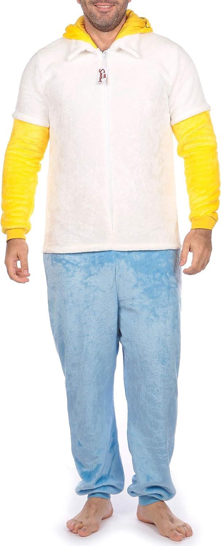 The Simpsons Pijama Entera Para Hombre Homer Simpson Multicolor Size Small Amazon Es Ropa Y Accesorios