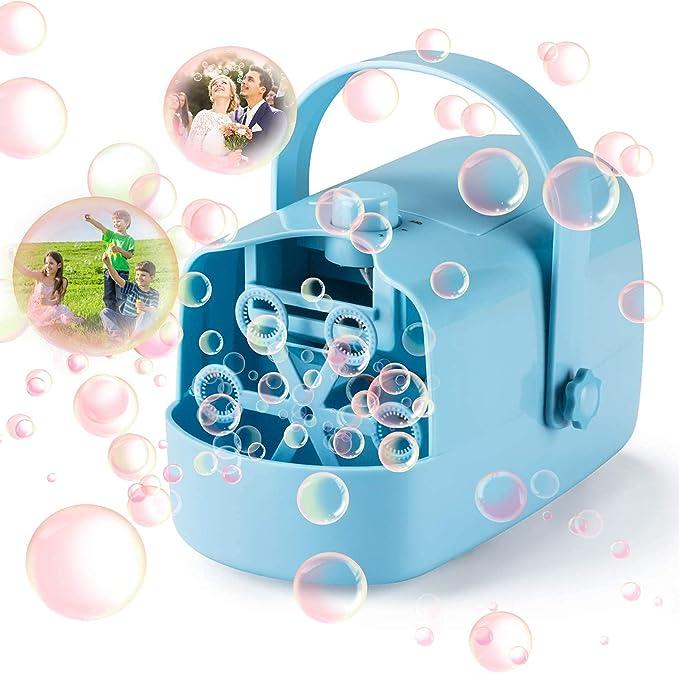 LDB Máquina de Burbujas,Máquina Automática de Burbujas para Niños Pompas de Jabón Juguetes Regalos Niños Niñas Fiesta Infantil Escenario Bodas al Aire ...